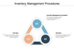 Inventory Management Procedures Ppt Powerpoint Presentation Pictures Smartart Cpb