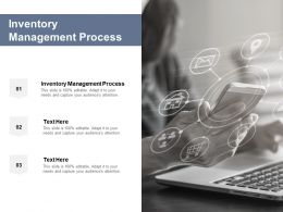 Inventory Management Process Ppt Powerpoint Presentation Ideas Cpb