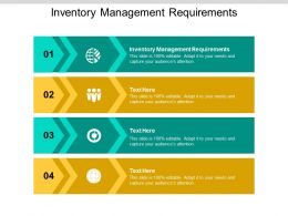 Inventory Management Requirements Ppt Powerpoint Presentation Background Cpb