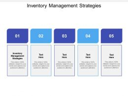Inventory Management Strategies Ppt Powerpoint Presentation Inspiration Cpb