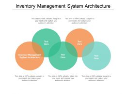 Inventory Management System Architecture Ppt Powerpoint Presentation Ideas Cpb