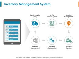 Inventory Management System Reporting Management Ppt Powerpoint Slides