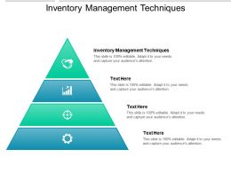 Inventory Management Techniques Ppt Powerpoint Presentation Portfolio Outfit Cpb