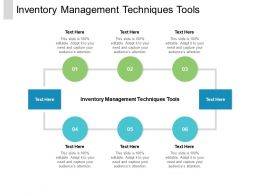 Inventory Management Techniques Tools Ppt Powerpoint Presentation Visual Aids Diagrams Cpb