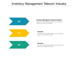 Inventory Management Telecom Industry Ppt Powerpoint Presentation Professional Graphics Design Cpb