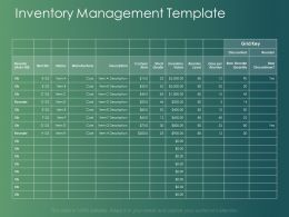 Inventory Management Template Manufacturer Powerpoint Presentation Layouts Clipart Images