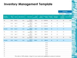 Inventory Management Template Ppt Layouts Infographics