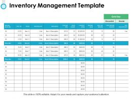 Inventory Management Template Table Ppt Powerpoint Presentation Icon Images