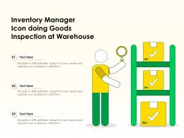 Inventory Manager Icon Doing Goods Inspection At Warehouse