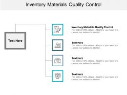 Inventory Materials Quality Control Ppt Powerpoint Presentation Styles Example Cpb