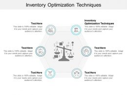 Inventory Optimization Techniques Ppt Powerpoint Presentation Summary Design Ideas Cpb