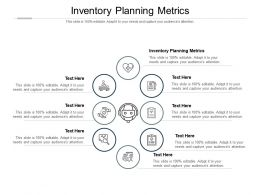 Inventory Planning Metrics Ppt Powerpoint Presentation Summary Objects Cpb
