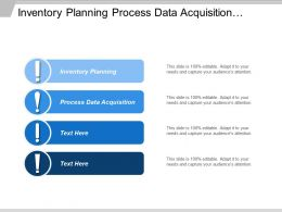 Inventory Planning Process Data Acquisition Process Plant Control