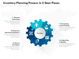 Inventory Planning Process In 5 Gear Pieces