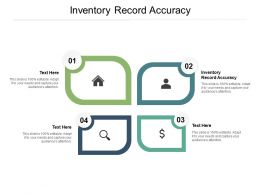 Inventory Record Accuracy Ppt Powerpoint Presentation Styles Templates Cpb