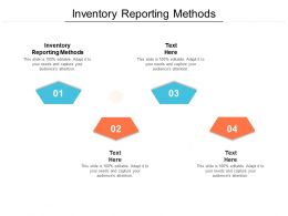 Inventory Reporting Methods Ppt Powerpoint Presentation Clipart Images Cpb