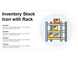 Inventory Stock Icon With Rack