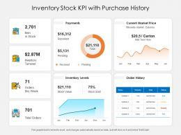 Inventory Stock KPI With Purchase History