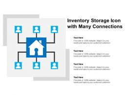 Inventory Storage Icon With Many Connections