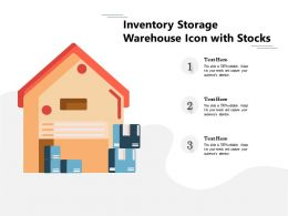 Inventory Storage Warehouse Icon With Stocks