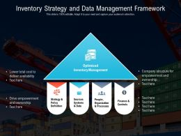 Inventory Strategy And Data Management Framework