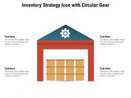 Inventory Strategy Icon With Circular Gear
