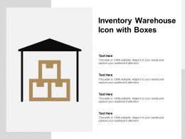 Inventory Warehouse Icon With Boxes