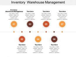 Inventory Warehouse Management Ppt Powerpoint Presentation Infographic Template Templates Cpb