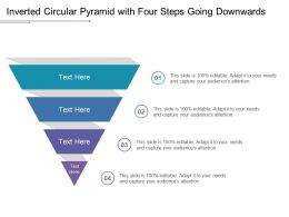 Inverted Circular Pyramid With Four Steps Going Downwards