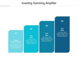Inverting Summing Amplifier Ppt Powerpoint Presentation Pictures Design Inspiration Cpb