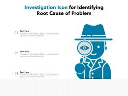 Investigation Icon For Identifying Root Cause Of Problem