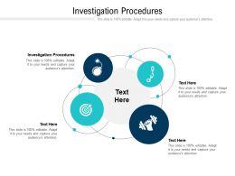 Investigation Procedures Ppt Powerpoint Presentation Inspiration Aids Cpb