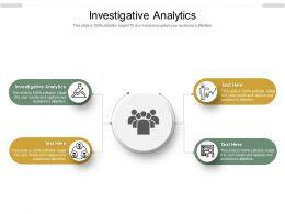 Investigative Analytics Ppt Powerpoint Presentation Summary Gallery Cpb