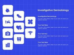 Investigative Dermatology Ppt Powerpoint Presentation Backgrounds
