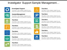 Investigator Support Sample Management System Integration User Training