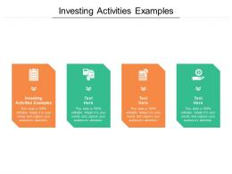Investing Activities Examples Ppt Powerpoint Presentation File Graphics Template Cpb