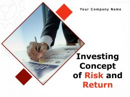 Investing Concept Of Risk And Return Powerpoint Presentation Slides
