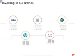 Investing In Our Brands Ppt Powerpoint Presentation Gallery Files