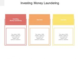Investing Money Laundering Ppt Powerpoint Presentation Visual Aids Background Images Cpb