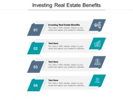 Investing Real Estate Benefits Ppt Powerpoint Presentation Templates Cpb