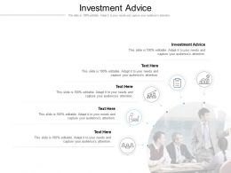 Investment Advice Ppt Powerpoint Presentation Slides Example Cpb