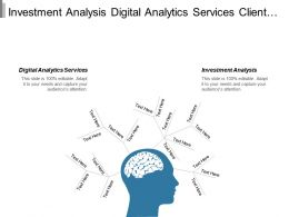 Investment Analysis Digital Analytics Services Client Financial Services Cpb