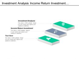 Investment Analysis Income Return Investment Open Sole Proprietorship Cpb