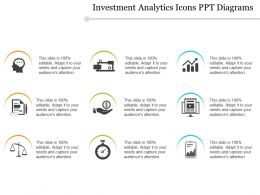 Investment Analytics Icons Ppt Diagrams