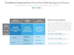 Investment Approaches Powerpoint Slide Background Picture