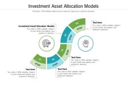 Investment Asset Allocation Models Ppt Powerpoint Presentation Gallery Themes Cpb