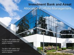 Investment Bank And Asset Allocation Portfolio Management