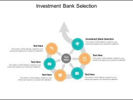 Investment Bank Selection Ppt Powerpoint Presentation Portfolio Graphics Example Cpb