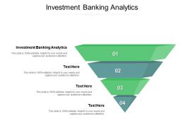 Investment Banking Analytics Ppt Powerpoint Presentation Outline Format Ideas Cpb