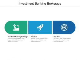 Investment Banking Brokerage Ppt Powerpoint Presentation Professional Slide Cpb